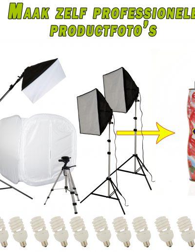 Complete fotostudio set van FotoCube