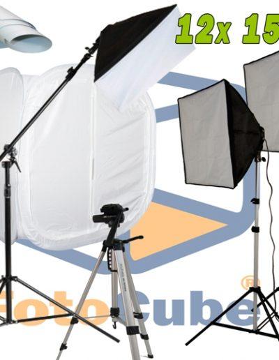 Fotostudio set met de FotoCube Opnametent